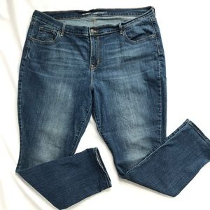 Old Navy Curvy Midrise Jeans Sandblasted Wash